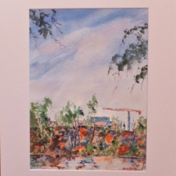 """""""Old Meets New – Shoalhaven NSW"""" Original Watercolour Painting"""
