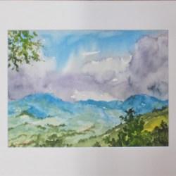 'Mount Kilcoy Views' Watercolour Painting