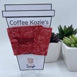 Coffee Kozie – Red Marble