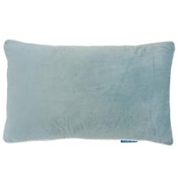 GRANGE Duck Egg Blue Velvet White Piping Cushion Cover 30 cm by 50 cm