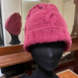 Hand knitted Wool Blend Beanie