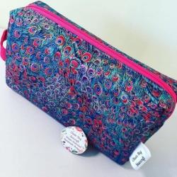 Handmade Box Bag – Peacock Hot Pink