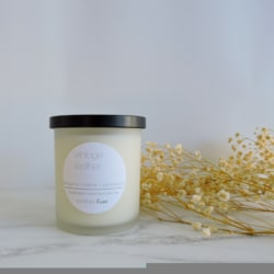 Vintage Leather Soy Candle
