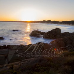 Sunset at Salmon Rocks, Cape Conran Coastal Reserve | Canvas or Framed Artwork | Australian Photography