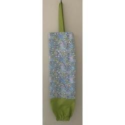 Reusable Grocery Bag Holder – Light Blue Floral & Green