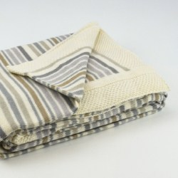 Natural Striped Baby Blanket