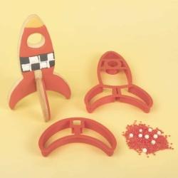 Rocket 3D Standing Cookie Cutter