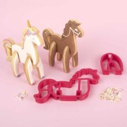 Horse Unicorn 3D Standing Cookie Cutter