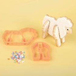 Sheep 3D Standing Cookie Cutter