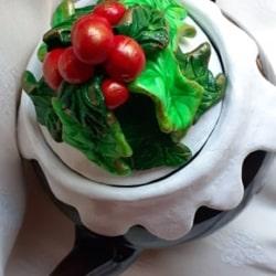 Christmas Pudding Teapot