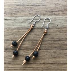 Lava droplet earrings