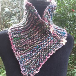 Handknitted multi colored cowl