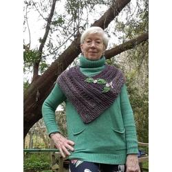 Handknitted wool wrap/ scarf