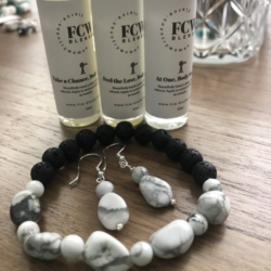 Beautiful memories earrings & bracelet set