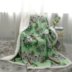 Cute Koalas Premium Plush Sherpa Blanket Australian