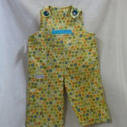 Toddlers Winter Button Up Overalls