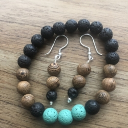 Down to Earth earring and bracelet set