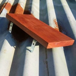 Shelf pine or mahogany, wall shelves, timber shelf bedroom, living room, bathroom