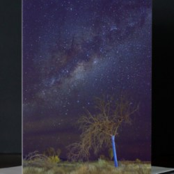 Blue Tree under the Milky Way – Pack of 5 Blank Greeting Cards