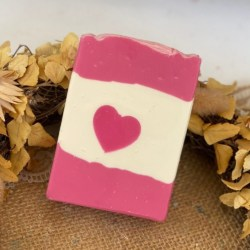 Pink Amore Heart Soap | Cold Process Soap | Handmade Soap