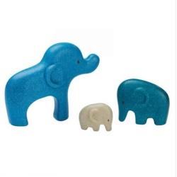PlanToys – sustainable wooden puzzle – Elephant Family