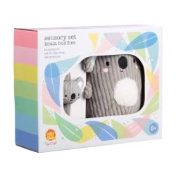 Tiger Tribe Baby Sensory Set – Koala Buddies – soft toy and wrist rattle