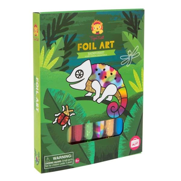 Tiger Tribe rainforest foil art kit