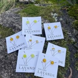 Handmade Glass Stud Earrings – Lemon Yellow