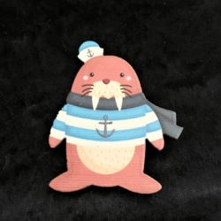 Cute Seal Pirate Brooches / Pins / Embellishments