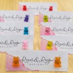 Gummy Bear Studs (Stainless Steel, Lead & Nickel Free)