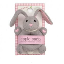 Apple Park – Organic Bunny Soft Teething Rattle – gift for baby