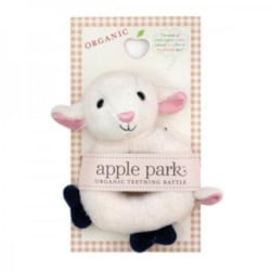 Apple Park – Organic Lamby Sheep Soft Teething Rattle – gift for baby