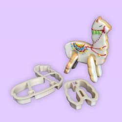 Alpaca 3D Standing Cookie Cutter