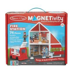 Melissa & Doug Magnetivity Fire Station magnetic toy activity set