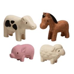 PlanToys – sustainable wooden baby toy – Farm Animals Set
