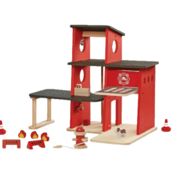 PlanToys – sustainable wooden Fire Station