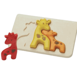 PlanToys – sustainable wooden puzzle – Giraffe Family