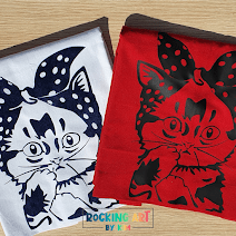 Decorated tote bags