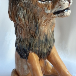 African Lion Figurine Hand-sculpted