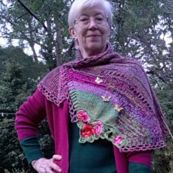 Handknitted shawl