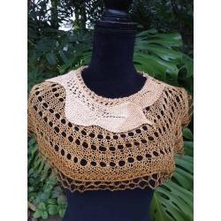 Handknitted silk collar/ short cape