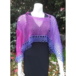 Handknitted Spring shawl/wrap