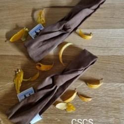 Linen Wire Headband (Chocolate)