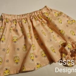 Tweety Girls Skirt & Scrunchie Set – Size 2
