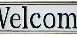 WELCOME SIGN RECTANGULAR